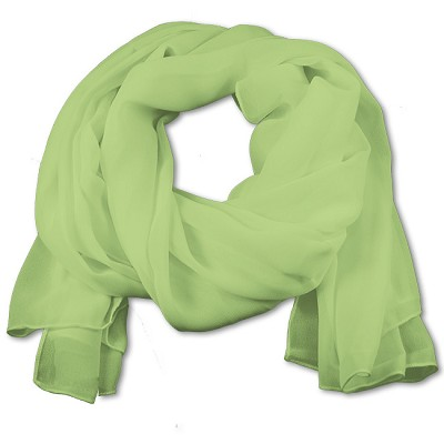 SS-78 | Women's Pear Green Chiffon Scarf