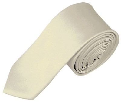 SK-21 | Solid Cream Skinny Tie For Men
