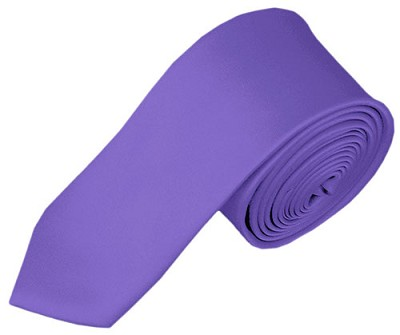 SK-29 | Solid Purple Skinny Tie For Men