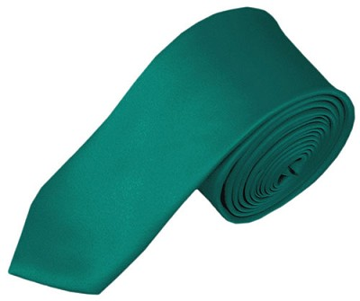 SK-84 | Solid Teal Green Skinny Tie For Men