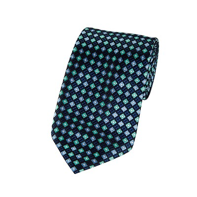 DL-08 | Navy, Aqua and Steel Blue Diamond X-Long Woven Necktie