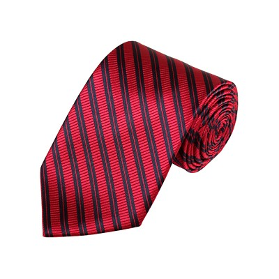 D-17 | Red And Black Striped Woven Necktie