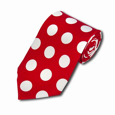 PDB-01 | Red and White Big Polkadot Tie