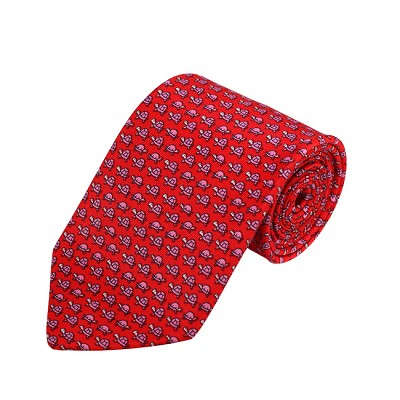 PD-36 | Pink Turtle Pattern on Coral Men's Printed Design Necktie