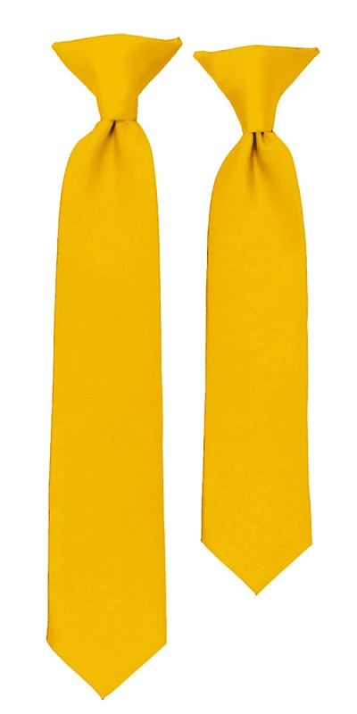 C-48 | Boys' Solid Golden Yellow Clip On Tie