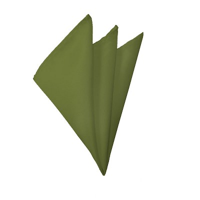 H-34 | Solid Olive Green Handkerchief