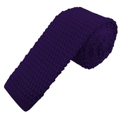 KTS-31 | Men's Solid Deep Purple Knit Tie