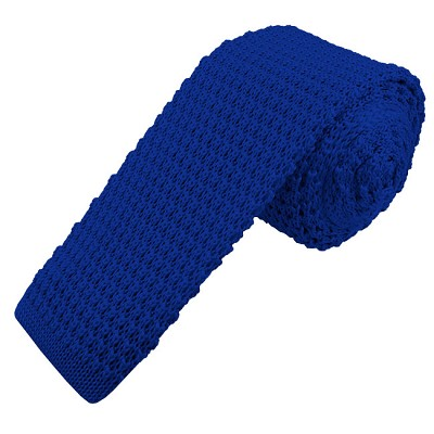 KT-36 | Men's Solid Royal Blue Knit Tie