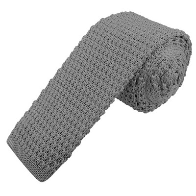 KTS-50 | Men's Solid Steel Knit Tie
