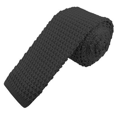 KTS-90 | Men's Solid Charcoal Gray Knit Tie