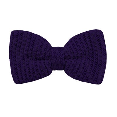 KTB-31 | Men's Solid Dark Purple Pre-Tied Knit Bow Tie