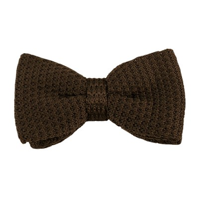 KTB-55 | Solid Dark Brown Men's Pre-Tied Knit Bow Tie