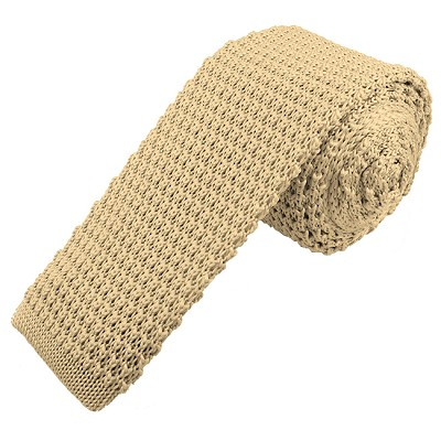 KT-21S | Solid Vanilla Men's Knit Tie