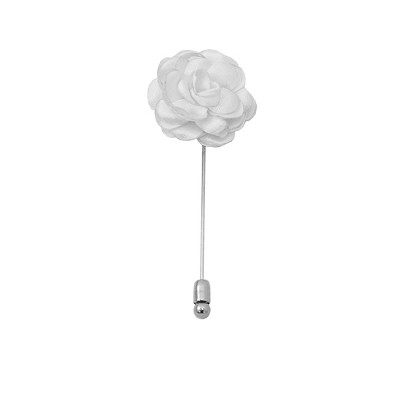 LAPS-20 | Solid White Floral Lapel Pin