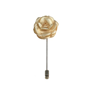 LAPS-21 | Solid Cream Floral Lapel Pin