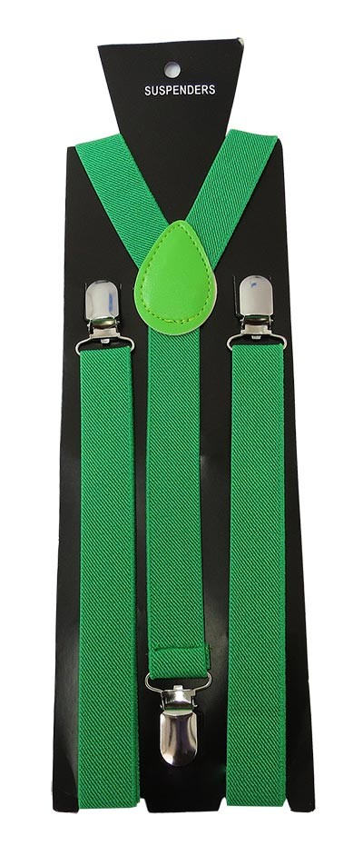 SUS-38 | Solid Green Suspender